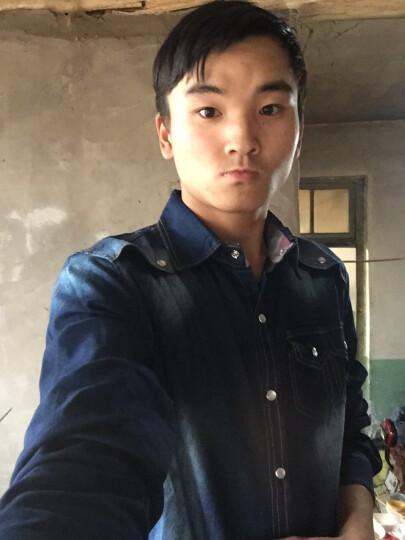 卡酷欧乐 牛仔套装男士夏季新品韩版休闲修身短袖衬衫 男装潮 D11 深蓝色9004牛仔套装 M-29(适合体重115斤左右) 晒单图