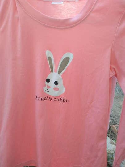 法格娣 睡衣女2018春装新款长袖卡通可爱棉质家居服两件套装 粉红色 M 晒单图