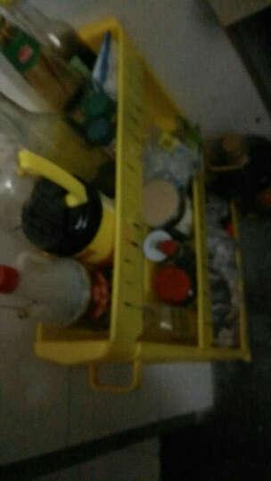 十一维度 厨房置物架夹缝置物架储物架可移动带滑轮浴室收纳架缝隙整理车 加厚三层(黄色) 晒单图