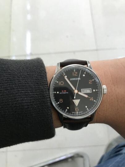 荣克士(Junkers)手表 男德国手表包豪斯个性简约时尚商务潮流夜光防水腕表自动机械表 6966-5(黑面棕带 夜光 双历 耐刮镜面) 晒单图