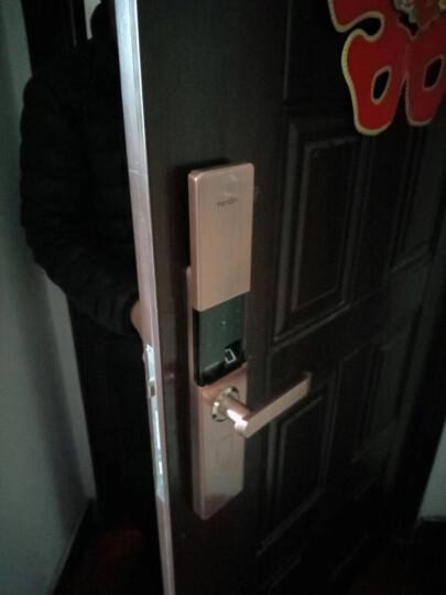 亚太天能(TENON) V9E 指纹锁智能锁电子门锁密码锁刷卡锁家用防盗门锁包安装 玫瑰金高配版+指纹+密码+钥匙+刷卡+智能APP 晒单图