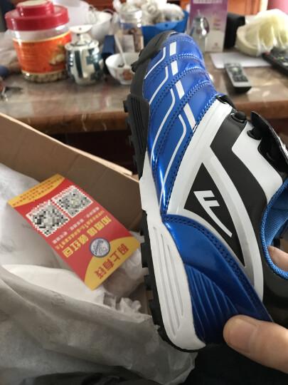 回力儿童皮足 AG钉软钉平地球鞋碎钉训练鞋人工草地足球鞋 WF3021蓝色 35/内长约21.5cm 晒单图