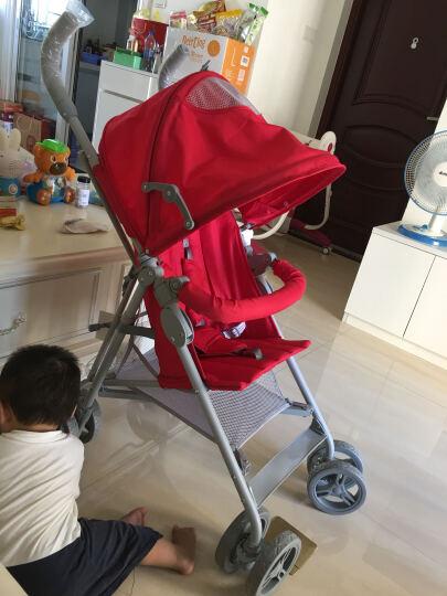 史威比(Sweeby) 婴儿推车超轻便伞车折叠便携婴儿车避震儿童手推车旅行bb宝宝推车 大红色 晒单图