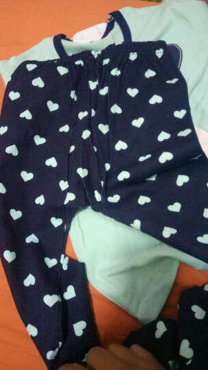 南极人儿童内衣 男女童基础打底秋衣秋裤棉毛套装 蓝色印花-女童 130 建议身高110-120cm 晒单图