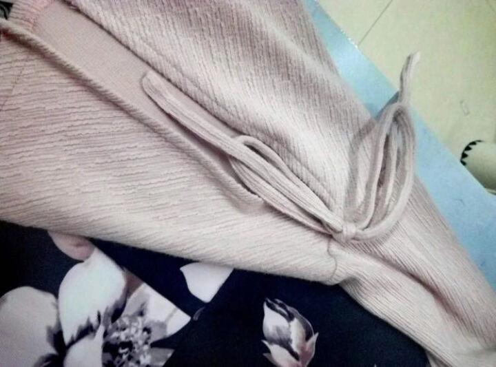秋水伊人2017春装新品女装拼接印花撞色修身连衣裙裙子 黑色 160/M 晒单图