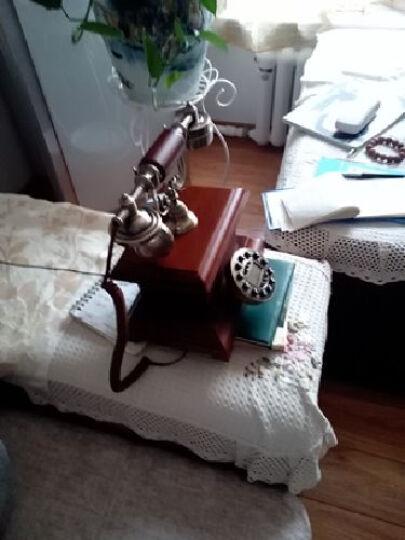 佳话坊 实木家居摆件工艺品 欧式仿古电话机 客厅创意装饰品 复古家用座机 中式书房 智能蓝屏款 晒单图