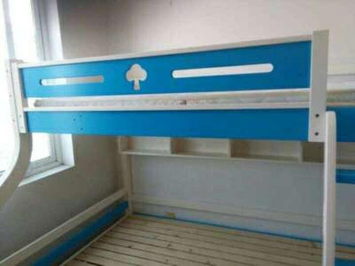 童梦 全实木爬梯高低床 实木儿童床爬梯款全实木子母床上下床 蓝白色(配书架和床体双抽) 上1米下1.35米 晒单图