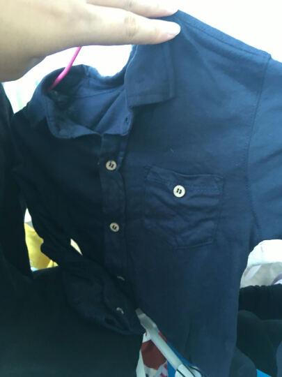 【3色】mayas男童全棉针织衬衫T恤长袖衬衣空调衫防晒衣儿童T恤男童衬衫春秋71017 03民族兰 100cm 晒单图