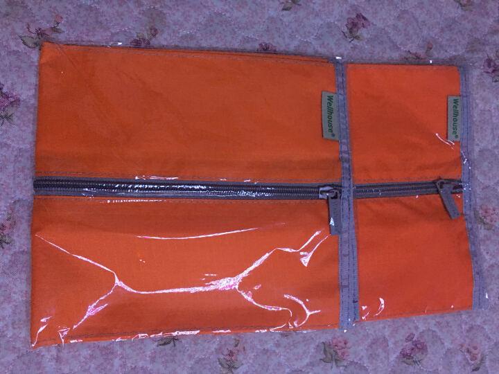 WELLHOUSE 旅行鞋袋洗漱收纳包男女拉链皮鞋保护袋 防尘 橙色防水款 晒单图
