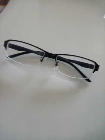 近视眼镜框男款钛合金眼镜架男眼镜潮气质成品半框近视眼镜架TR90超轻金属潮包邮 蓝色撞色(送镜片说下度数) 晒单图