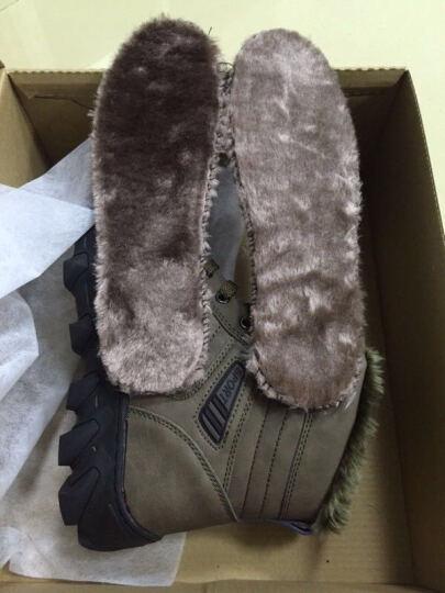 OEOVEAO/欧维欧 雪地靴男靴加绒保暖棉鞋 男士靴子男短靴军靴马丁靴男 黑色 41 晒单图