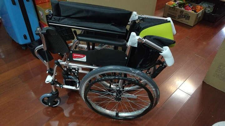 鱼跃(YUWELL)轮椅 加强铝合金 折背便携 H053C 免充气轻便老年残疾人代步车手动轮椅车 晒单图