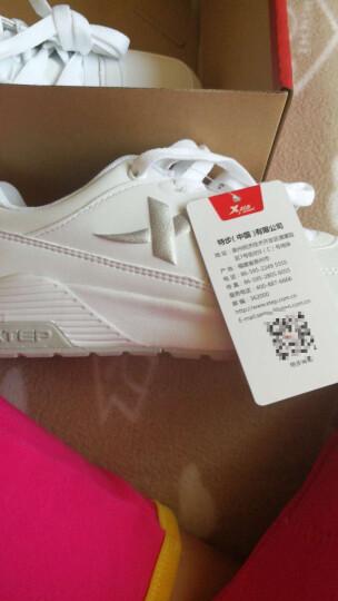 特步女鞋运动鞋女2020秋冬季跑步鞋小白鞋学生休闲旅游慢跑鞋子 9798 灰/网面 38 晒单图