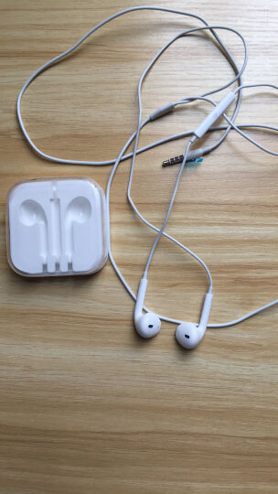 京芝 线控入耳式手机音乐 适用苹果耳机iPhone6/6s Plus/5S/4S/iPad 原版白色 晒单图