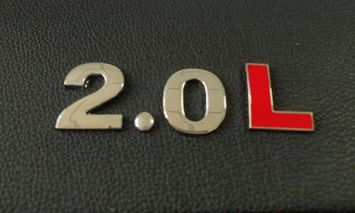 那卡汽车3D金属车贴 1.8T车标贴 TSI创意排量贴2.0T贴标V6字母贴4WD尾箱标 2.0L 晒单图