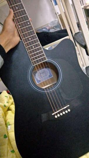 艾薇儿(Avril) 40寸41寸民谣吉他哑光黑色原木色初学者新手入门电箱免费刻字货到付款 41寸黑色 晒单图