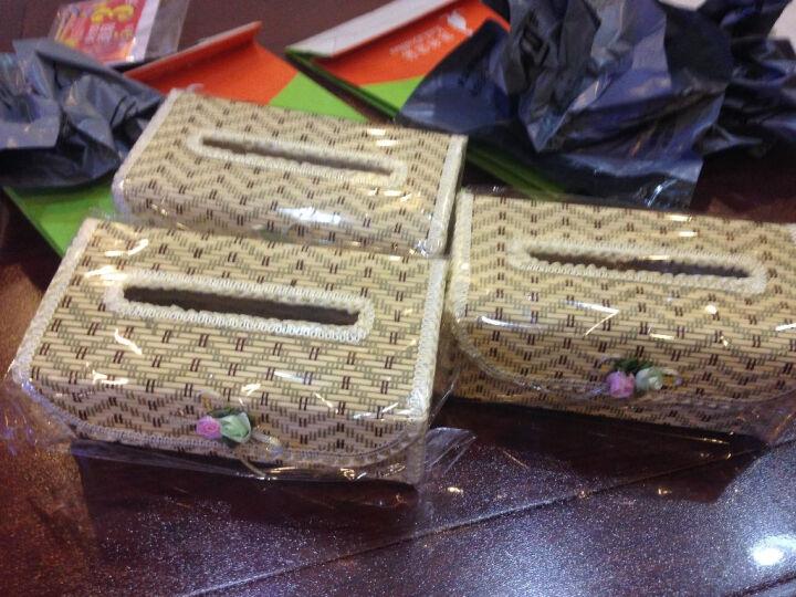 华居尚品 海草纸巾盒 长方形抽纸收纳盒 米黄色 8.5*12.5*27cm 晒单图