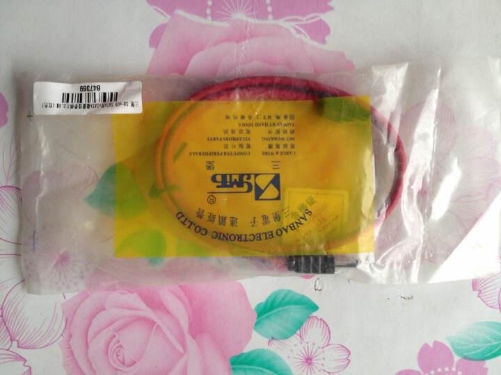 三堡(SANBAO) SA-e05 SATA 转eSATA 数据线带弹片 高速 外接移动硬盘盒0.5M (红色) 晒单图