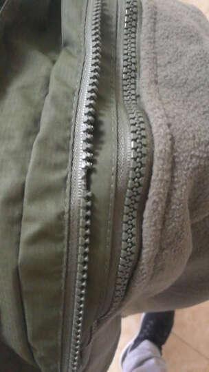 豹迹男女户外防风防雨登山服 抓绒内胆透气冲锋裤冲锋衣套装 两件套三合一情侣款 深灰+灰裤--男款 XL 晒单图