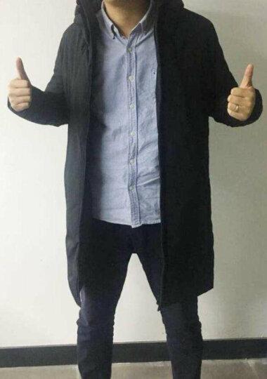 AEMAPE 羽绒服男中长款冬季青少年学生加厚上衣2017新款韩版宽松外套潮 178-118黑色 XXXL(190) 晒单图