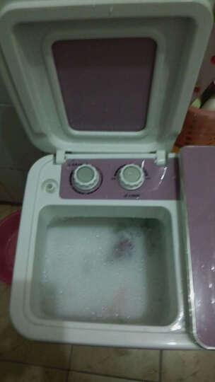 司迈特(SMARTEM) 3.5公斤半自动洗衣机小型迷你波轮母婴儿童双桶双缸脱水机 XPB35-688S紫藤色 晒单图