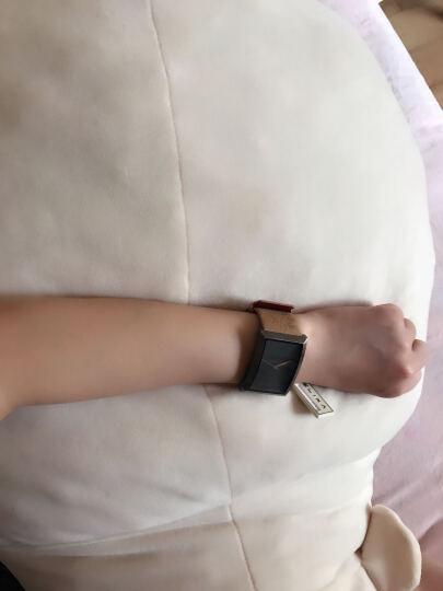 艾莉诗Elixa瑞士女士手表女石英表欧美时尚方形大表盘皮带女表 雅典黑色E071-L249 晒单图