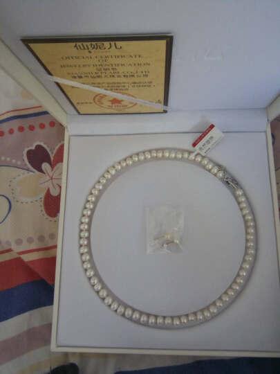 仙妮儿珠宝 淡水珍珠项链 强光亮泽高性价比女款送珍珠耳钉 感恩款 送妈妈送老婆礼物 特饱满7-8mm白色长度45cm 晒单图