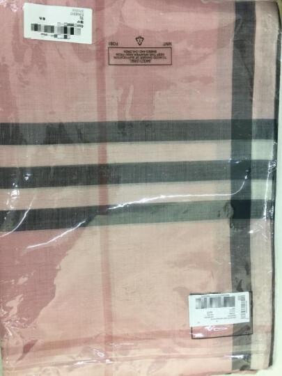 BURBERRY 巴宝莉围巾 中性款羊毛围巾经典格子山羊绒围丝巾 米色羊绒 3994123 晒单图