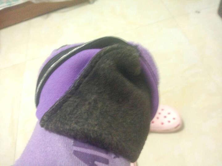 春秋款 男士女士袜套 宝宝加厚防滑袜套 地板袜 早教亲子袜 家居袜瑜伽袜 紫色 女士均码35-39 晒单图
