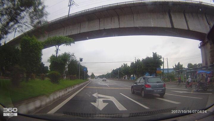 360行车记录仪 智能后视镜S650专用倒车影像后拉摄像头  JP711 黑色 晒单图