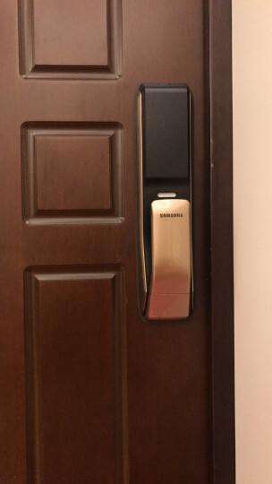 三星(SAMSUNG)指纹锁 SHP-DP728 电子门锁智能门锁密码锁防盗门家用 SHP-DP728香槟金 晒单图