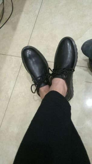 库斯麦斯(Koolsmiles)正装鞋皮鞋男休闲皮鞋男生商务西装鞋透气英伦时尚青年男式皮鞋 JZ9319-黑 38 晒单图