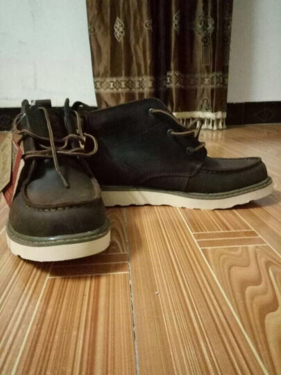 走索男靴子英伦马丁靴高帮男鞋牛皮工装雪地靴 疯马棕 41标准皮鞋码 晒单图