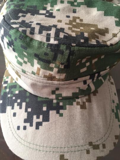 夏季军训帽户外丛林迷彩帽作训帽遮阳帽鸭舌帽帽迷彩帽男女通用帽 林地迷彩 晒单图
