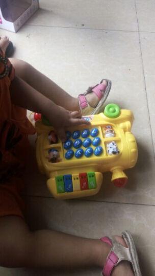 迪邦 益智音乐火车电话玩具配学习书页灯光效果拖拉电话车益智宝宝启蒙音乐琴儿童玩具礼物 黄色 晒单图