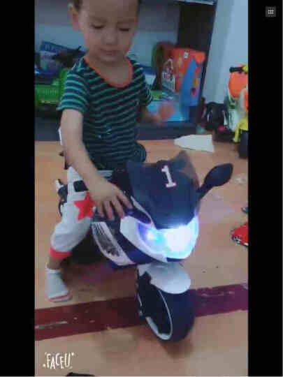 宝贝虎 儿童电动车儿童电动摩托车三轮车小孩可坐玩具车男女宝宝婴儿电瓶车可充电童车 顶配白色+灯光+自驾+音乐早教 晒单图