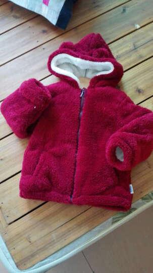 南极人(Nanjiren) 南极人儿童秋冬棉衣外套夹棉夹克宝宝外套婴儿加厚外出服 云朵小熊-葡萄红 90cm 晒单图