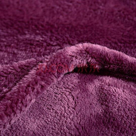 凯诗风尚纯色毛毯 学生宿舍夏季空调办公室午休休闲法兰绒毯子 午睡沙发盖毯床单单人双人披肩被毛巾被 奶咖色【纯色毯】 150cmX200cm【单人床】 晒单图