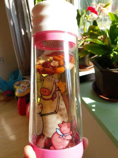 居元素 水晶芯多普 卡通 玻璃 双层 随身杯 粉色跳舞 晒单图