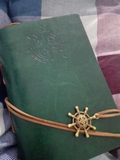 航海日记本子  创意个性复古牛皮纸皮革记事本厚本子  潮流精美旅行笔记本子盒装手账本 巧克力色 晒单图
