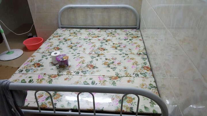 雕图腾 折叠床单人床木板床午休床加固四折床1.2米1.5米简易双人床折叠 豪华特粗50圆15腿1.5米白 晒单图