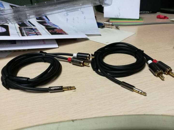 绿联(UGREEN)3.5mm转双莲花 音频线一分二 3.5转2RCA公对公连接线 手机电脑音响转接线 1.5米 10583 晒单图