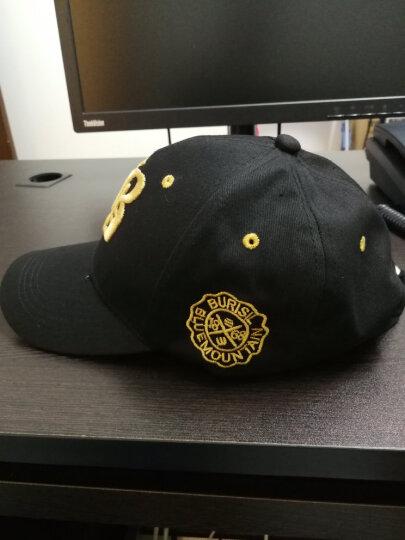 棒球帽子男女士春秋户外休闲情侣款鸭舌帽纯色可调节遮阳帽 黑色金标 晒单图