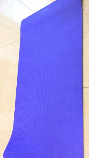 IKU瑜伽垫TPE 加厚8mm加宽防滑健身垫 183cm/80cm仰卧起坐垫 紫罗兰 晒单图