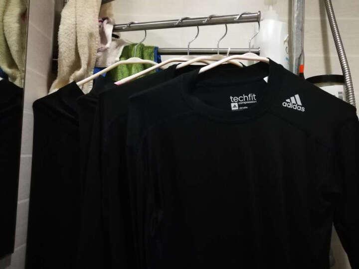 新款Adidas/阿迪达斯男款长袖紧身衣 足球篮球骑行健身速干排汗 运动T恤 AI3352白色 S(175/92A) 晒单图