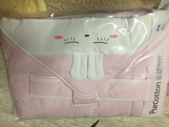全棉时代 婴儿隔尿垫可洗大号宝宝针织复合防水隔尿床单 90*70cm  1条装 蓝色小熊 晒单图