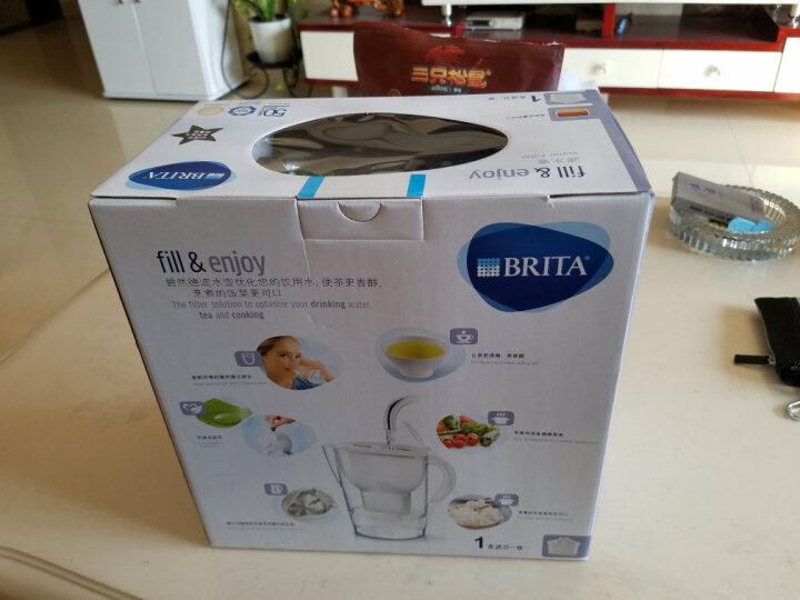 碧然德(BRITA)过滤净水器 家用滤水壶 净水壶滤芯 金典星光Marella3.5L套装黑色 1壶1芯 晒单图