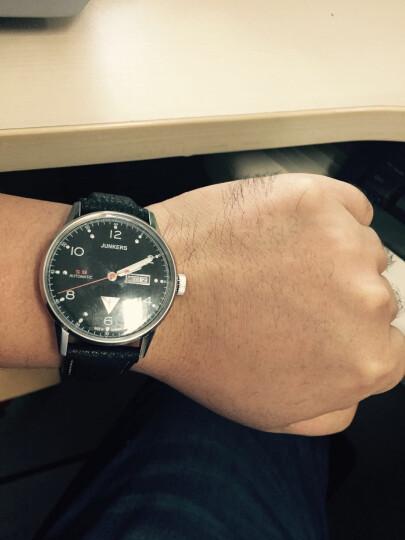 荣克士(Junkers)手表 男德国手表包豪斯个性简约时尚商务潮流夜光防水腕表自动机械表 6968-5(黑面金壳 夜光 双历 耐刮镜面) 晒单图