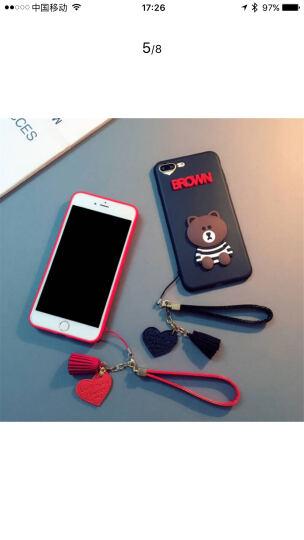杜能 oppor11手机壳oppor9s套r15玻璃壳r9plus个性情侣r11s卡通潮网红玻璃壳 6/6S 4.7英寸 红色小熊+爱心挂件 晒单图