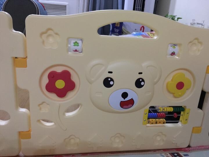 澳乐(AOLE-HW)儿童婴儿游戏围栏爬行垫围挡安全护栏宝宝学步围栏栅栏海洋球池防护栏玩具 跑跑熊围栏14片+门栏+玩具栏 晒单图